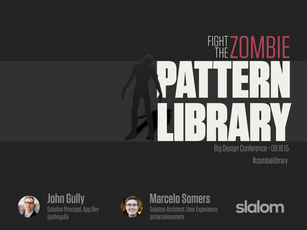 Fight the Zombie Pattern Library Slide Cover